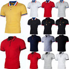 Mens Classic Short Sleeve Tee Tops Summer Golf Shirts Casual Plain Polo T-Shirts