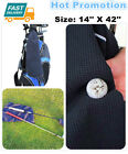 "Golf Towel 42""X14"" Waffle Microfiber Hook to Bag Black Blue White Pink Big AU"
