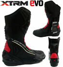 MOTORCYCLE ARMOUR SPORTS BOOT XTRM EVO LEATHER MOTORBIKE SCOOTER RIDE BOOTS RED