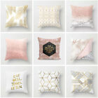 Sofa Car Seat Home Decor Cushion Cover Pillow Cases Winter Warm Gold Shining image