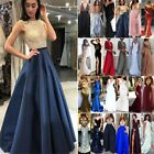 Womens Formal Maxi Dress Prom Evening Party Cocktail Bridesmaid Wedding Gown Uk