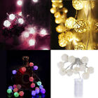 Fashion 10 LED Color Rattan Ball String Fairy Lights For Xmas Wedding Party Hot