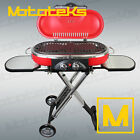 PORTABLE BBQ GRILL PROPANE MATCHLESS LIGHTING FOLDABLE CART FOR CAMPING OUTDOOR