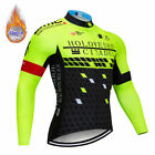 Winter Cycling Clothing Set Fleece Thermal Men Winter Cycling Jersey Long Sleeve
