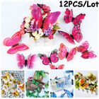 Folding Wings Fridge Magnet Double Layer 3d Butterfly  Decals Wall Stickers