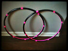 BUDGET Interior Grip Mini Arm Hula Hoops - Poi Style two twins double workout