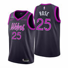 NWT Derrick Rose 25 City Edition Purple Minnesota Timberwolves Mens Jersey