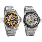 Men Transparent Steampunk Skeleton Self Auto Mechanical Stainless Steel Watch image