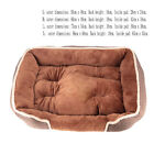 Dog Bed Pet Puppy Faux Fur Fleece Washable Deluxe Cushion S M L XL XXL New