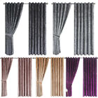 Luxury Crushed Velvet Curtains Pair Fully Lined Eyelet Ring Top Ready Made 8 Siz