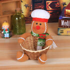 Merry Christmas Candy Storage Basket Xmas Table Decor Ornament Children Toy Gift