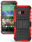 NEW GRENADE GRIP RUGGED TPU SKIN HARD CASE COVER STAND FOR HTC ONE M9 PHONE 2015