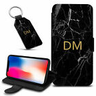 Marble Personalised PU Leather Wallet Case & Keyring For Various Mobiles - 41