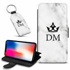 Marble Personalised PU Leather Wallet Case & Keyring For Various Mobiles - 21