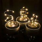 Novelty Color Changing LED Fairy Light Solar Mason Jar Lid Lights Garden Decor