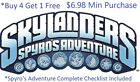 *Skylanders Spyro's Adventure Complete Your Set w Checklist* WiiU PS4 Xbox One👾