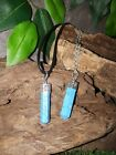 Turquoise healing crystal Necklace blue howlite gemstone pendant chakra Indian