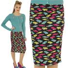 SCUBA WIGGLE PENCIL  SKIRT CLASSIC 50'S VINTAGE CARS ROCKABILLY ALTERNATIVE
