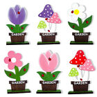 Cute Wooden Easter Ornament Colorful Drawing Flower Home DIY Decoration Kids Toy