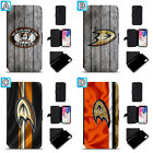 Anaheim Ducks Leather Case For iPhone X Xs Max Xr 7 8 Plus Galaxy S9 S8 $4.99 USD on eBay