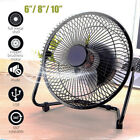 6''/8''/10'' Metal Electrical 360°Rotatable USB Fan Rechargeable Battery Desk