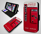 Coca Cola Vending Machine Retro Coke Quirky Leather Wallet Flip Phone Case Cover $13.33  on eBay
