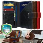 GreatShield RFID Blocking PU Leather 9 Slot Passport ID Card Holder Wallet Cover