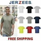 Jerzee Mens TALL T-Shirt 50/50 DriPower Tee XLT 2XLT 3XLT Plain Solid Blank 29MT image
