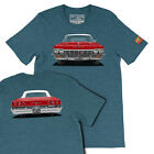 Custom Your Classic Car Tshirts 1965 Red Chevy Impala  Men's Gift T-shirts