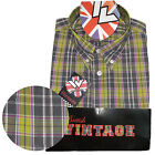 Warrior UK England Button Down Shirt START Slim-Fit Skinhead Mod Retro