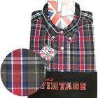 Warrior UK England Button Down Shirt BUSTER Slim-Fit Skinhead Mod Retro