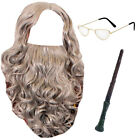 WIZARD ACCESSORY SET TV FILM CHARACTER FANCY DRESS TEACHER WORLD BOOK DAY OUTFIT
