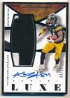 ANTONIO BROWN 2015 PANINI LUXE SILVER FRAMED AUTOGRAPH 2 COLOR PATCH AUTO #02/10