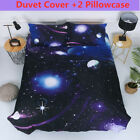 Galaxy Space Duvet Cover Set Twin Full Size 3D Starry Comforter Cover Set New image