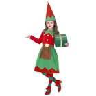 Girls Santas Little Helper Christmas Elf Costume Xmas Party Fancy Dress Outfit