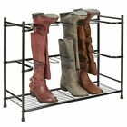 mDesign Metal Boot Storage and Organizer Rack, Holds 6 Pairs