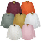 Men's Vibrant Color Long Sleeve Button Down Dress Casual Embroidered Shirt