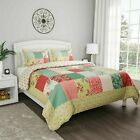 Floral Patchwork Sweet Dreams Quilt Set Bedspread Quilted Blanket Coverlet image