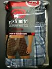 Ecko Unltd. Mens 3pk woven boxers Choose Size M,L, XL Modern Fit Checks MSRP $30