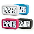 LCD Smart Snooze Alarm Clock Digital Electronic Light Sensor Kids Table Clock