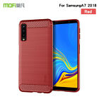 For Samsung Galaxy A7 2018 Shockproof Carbon Fiber Brushed TPU Rubber Cover Case