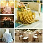 Wedding Party Tablecover Table Cover Cloth Sequins Tablecloth Birthday 4 Colour