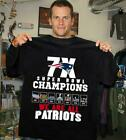 Time 7X World Champions Super Bowl NFL New England Patriots Men Women T-Shirt 6X