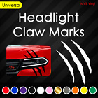 Headlight Claw Scratch Mark Vinyl Decal | Universal Fit 744