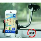 360° Degree Car Phone Holder Windshield Mount Bracket for iPhone GPS black