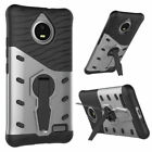 For Moto Phones Luxury Shockproof Bumper Armor Stand Protective Case Hard Cover