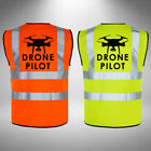 Drone Pilot Hi Vis Vest High Visibility Vest Yellow & Orange Safety Waistcoat