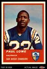 1963 Fleer #69 Paul Lowe Chargers NM $49.5 USD on eBay