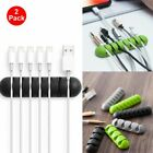 2-Pack Cable Clip Grip Desk Wall Organizer Desktop Wire Cord USB Charger Holder