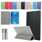 For Huawei M3 M5 T5 T2 T3 Tablet Smart Magnet Trifold PU Leather Flip Case Cover
